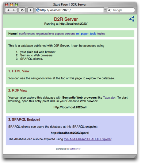 Screenshot of D2R Server's web interface